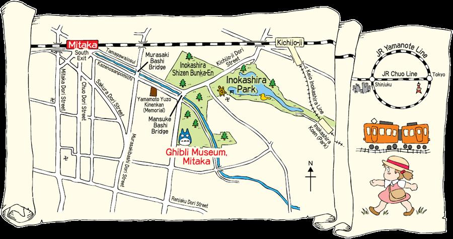 Tokyo Day Tour-map