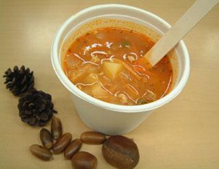 冬に食べる赤いスープ