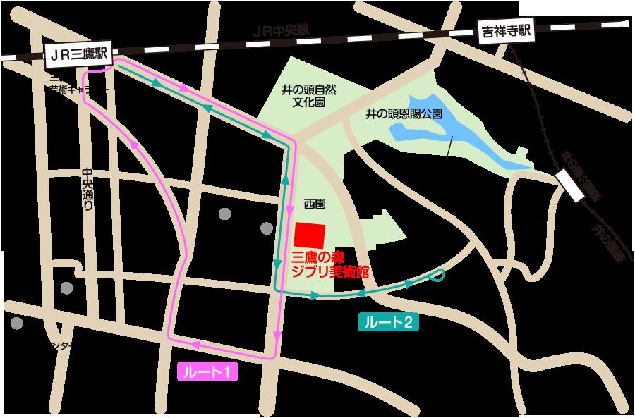 バス経路地図