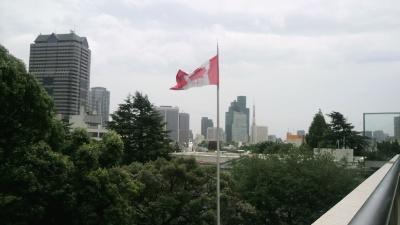 カナダ国旗と東京タワー