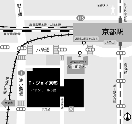 T・ジョイ京都地図