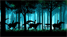 三鷹の森ジブリ美術館ライブラリー作品 映画『夜のとばりの物語』場面写真 01